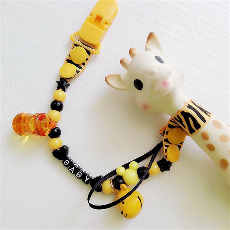New Baby Boys Girls Pacifier Clips 11 Styles Baby Cartoon Pacifier Clip Chain Newborn Pacifier Chain Clip Holder Nipple Feeding|Pacifier| - AliExpress