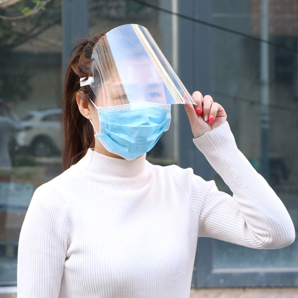 1Pc Clear Face Cover and Transparent Face Shield for Full Face and Eye Protection 10