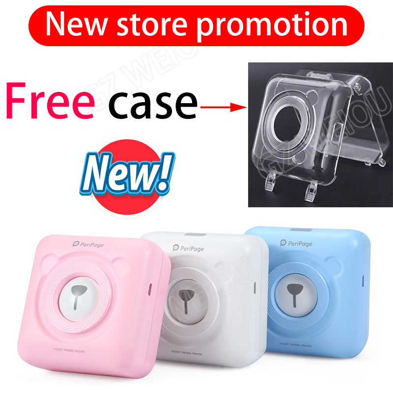PeriPage 58mm Mini Portable Bluetooth Wireless Photo Printer Pocket Thermal Printing USB Connection POS Thermal Photo Printer
