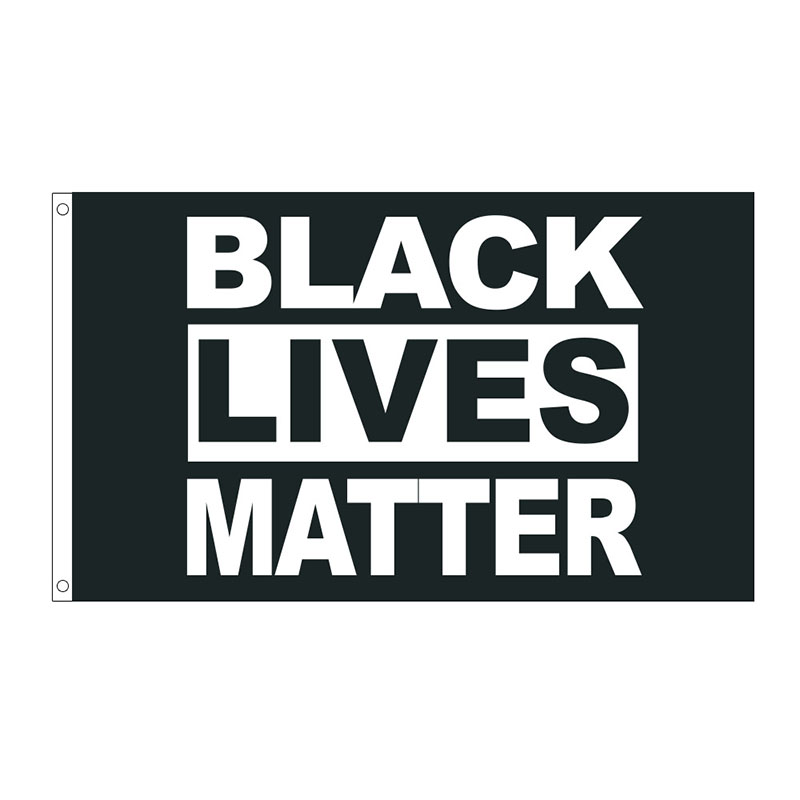 free  shipping  xvggdg  3 By 5 Foot Flag   Black Lives Matter Flag BLM Peace Protest Outdoor Banner flag-0