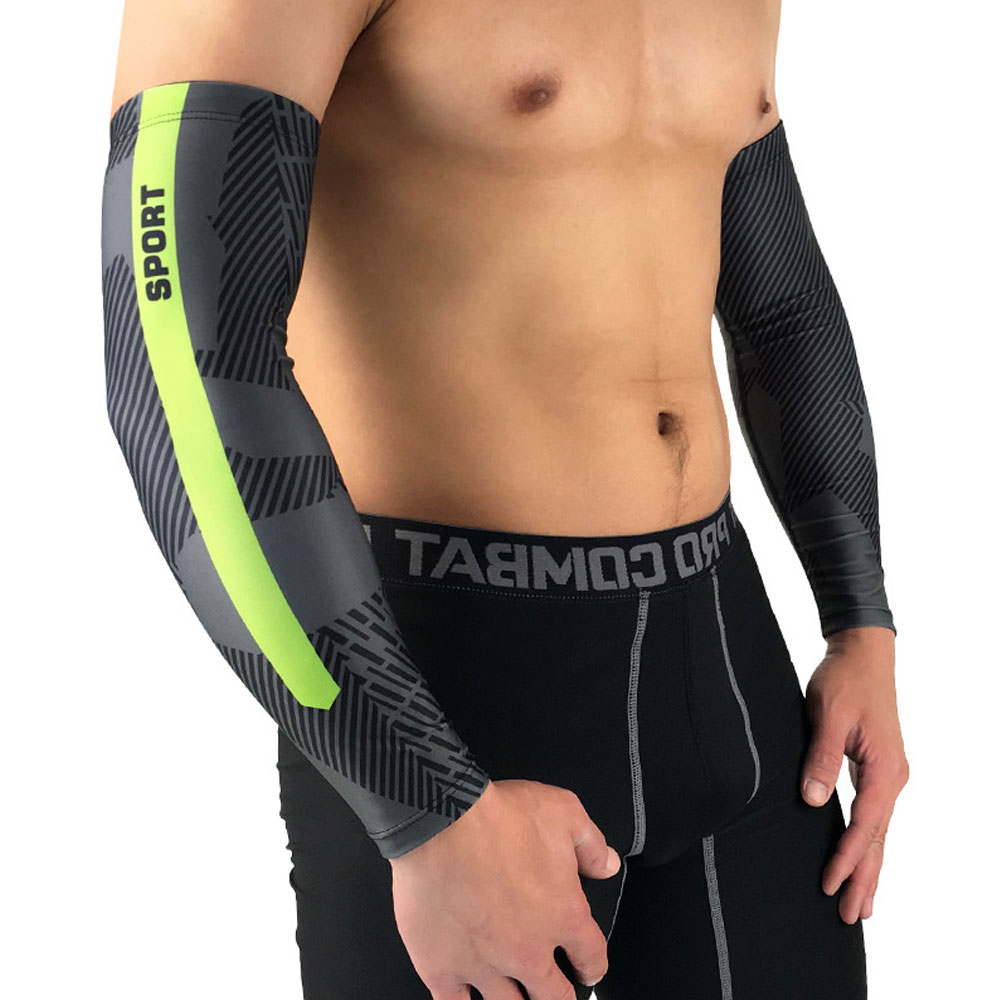 1Pair Unisex UV Protection Sleeves Arm Cooling Sleeves Ice Silk Arm Sleeves Arm Cover Sleeves For Men Women Youth