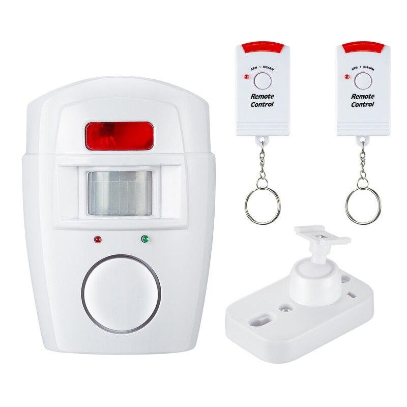 Домашняя система охранной сигнализации Беспроводной детектор + 2x пульты дистанционного управления инфракрасный датчик движения из PIR
