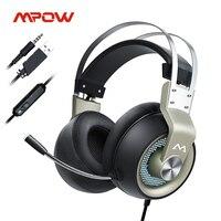 Mpow EG3 Pro cuffie da gioco per iPad PS4 PC Laptop Tablet telefoni 3.5mm Jax e cavo USB supporto Volume/controllo microfono Driver 50mm