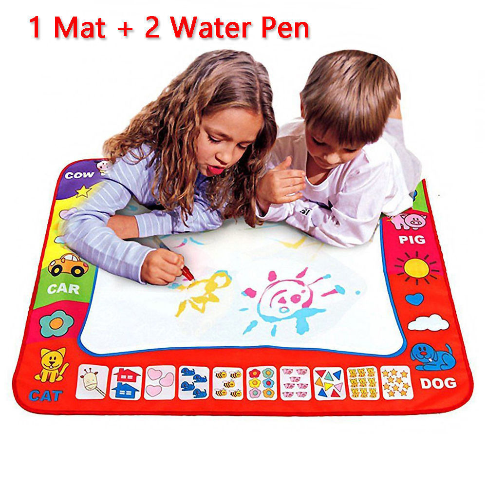 1-6 Years Children Kids Baby Drawing Toys Educational Water Mat Drawing Painting Toddler Board Magic Pen Gift 45.5 X 29cm