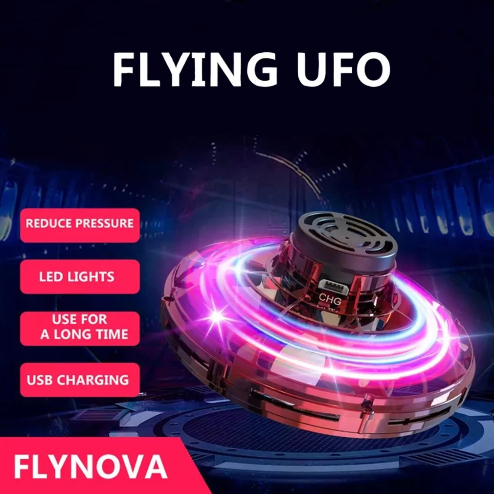 Flynova Mini Drone LED UFO Flying Helicopter Spinner Fingertip Upgrade Flight Gyro Drone Aircraft Toy Adult Kids Gift Wholesale enlarge