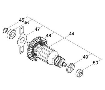 AC220-240V MAKITA 518193-4 Rotor Motor Armature for JR3061 Rotor