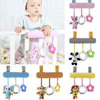 Baby Crib  Mobile Bed Bell Toy Infant Baby Rotary Music Bed Bell Nursery Mobile Animal Cute Monkey	Panda Elephant