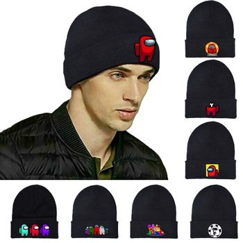 Game Outdoor Cycling Winter Warm Knitted Beanie Hat for Teens Girls Boys Cartoon Anime Embroidery Cosplay Cap Unisex Hats недорого