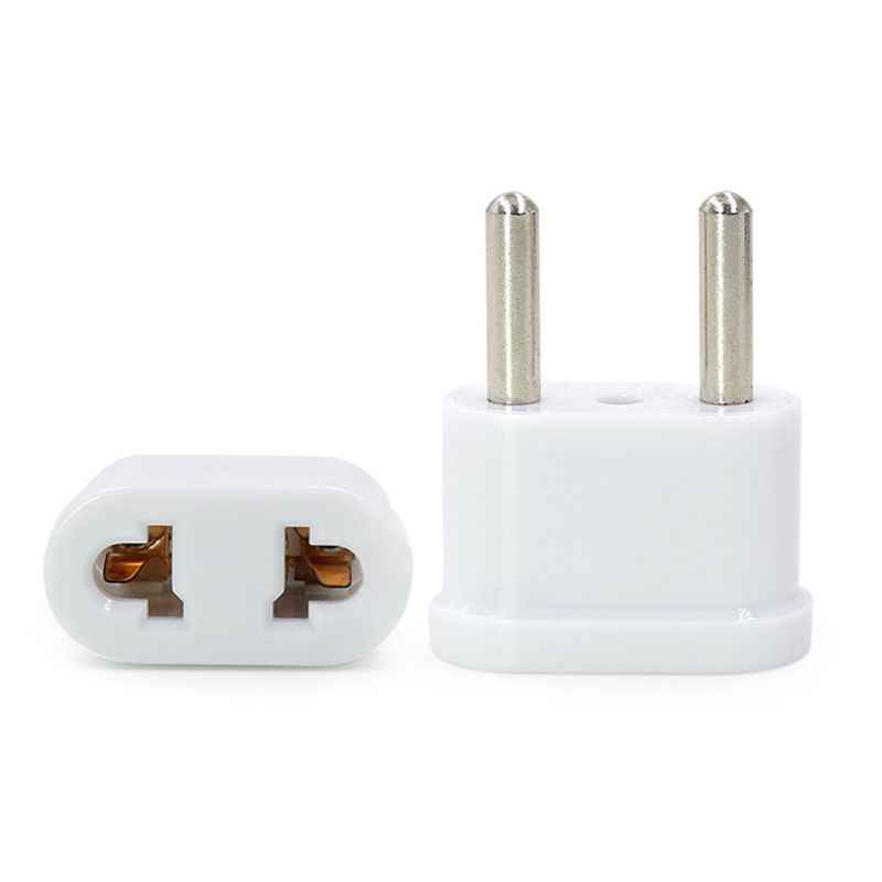 4MM/4.8MM US USA to EU EURO Europe Travel Power Plug Adapter Charger Converter for USA Converter White