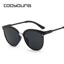 COOYOUNG Cat Eye Sonnenbrille Frauen Marke Designer Mode Beschichtung Spiegel Sexy Cateye Sonnenbrille UV400 frauen Gläser