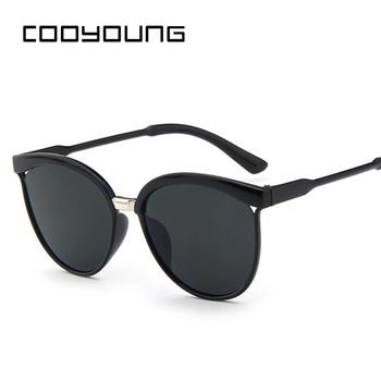 """COOYOUNG-okulary przeciwsłoneczne """"kocie oczy"""" dla kobiet markowe modne designerskie okulary na słońce odblaskowe i seksowne z filtrem UV 400 dla kobiet tanie i dobre opinie WOMEN KOCIE OKO Dla osób dorosłych Z tworzywa sztucznego Gradient UV400 51mm Z poliuretanu CN15940 59mm"""