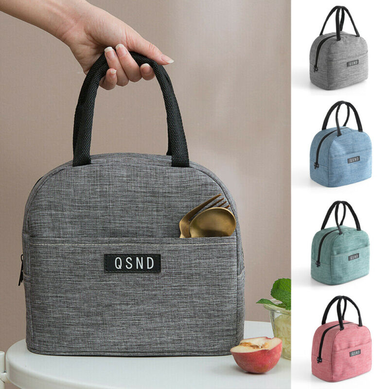 Portable Lunch Bag New Thermal Insulated Lunch Box Handbag Bento Pouch Dinner Container School Food Storage Bags