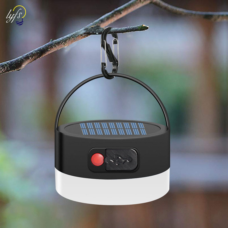 Solar Camping Light Outdoor Waterproof Solar Power Hanging Light Camping Tent Light Dimmable
