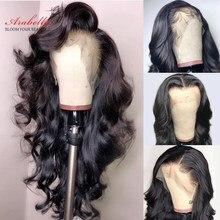Perruque Lace Frontal Wig péruvienne naturelle Remy-Arabella | Body Wave, 13x4, densité 150% 180%