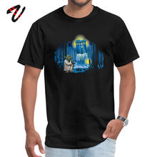 Yoda Master Tardis Starry Night Tshirts Star Wars Dr Who Parody Faddish Customized T-Shirt 100% Cotton Back To The Future Tees(China)