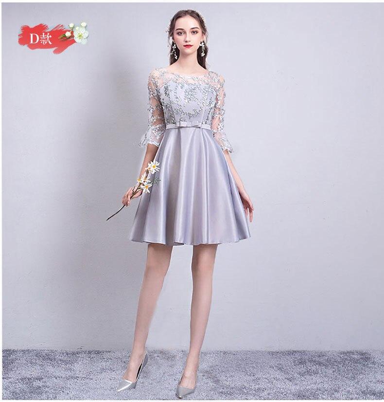A-Line Satin Gary Bridesmaids Dress Elegant Women For Wedding Party Sexy Prom Azul Royal Sister Club Vestido De Festa Longo