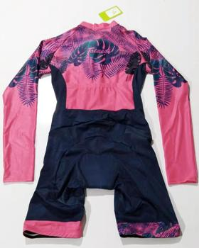 Colorful Triathlon Suit vvdesigns Women's Cycling Long Sleeve Skinsuit Custom Mtb Clothing Set Outdoor Ropa ciclismo Jumpsuit 3