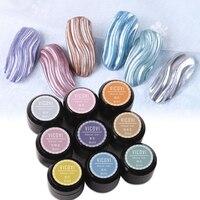 Pintura de uñas 3D, 9 colores de Gel para dibujar, Gel UV de Color acrílico, arte de uñas en punta, pintura de dibujo de Gel, GY35346