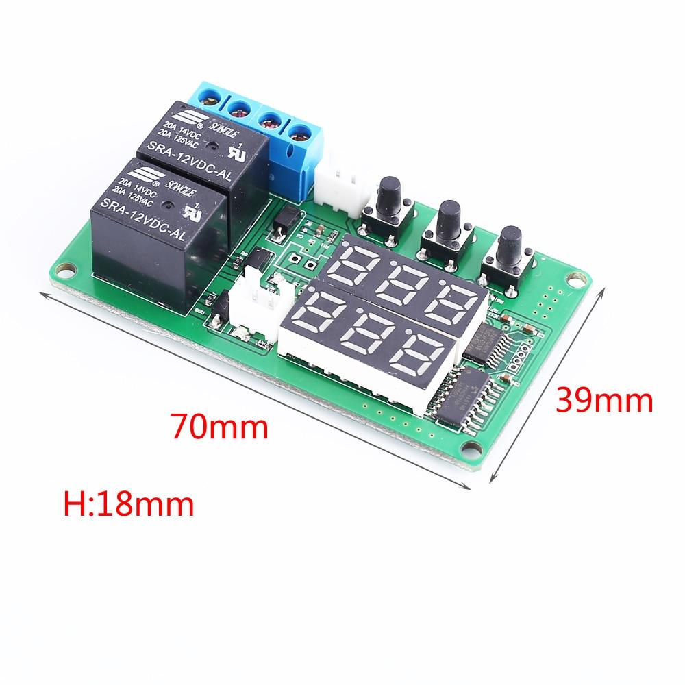 50 ℃ bis 100 ℃ mit Sensor 12V 10A Digital LCD Temperatur regler Thermostat