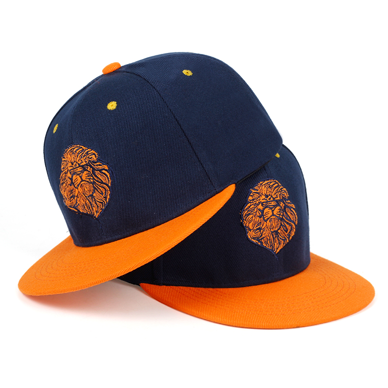 2019 High Quality Lion Face Embroidery Snapback Cap Cool King Hip Hop Hat For Boys And Girls