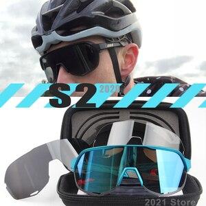2020 S2 S3 3Lens polarized Outdoor Sport Bike UltraLight UltraPerformance Cycling Glasses Eyewear Peter Goggles man photochromic(China)