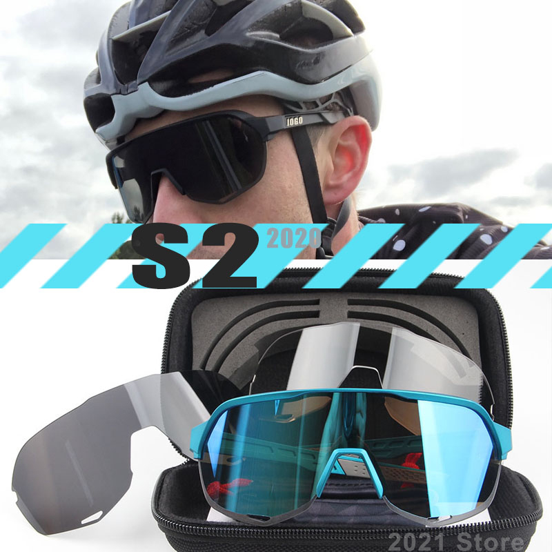 Cycling-Glasses Eyewear Goggles MTB Sports Bike Peter Polarized 3-Lens Outdoor S3 S2 title=