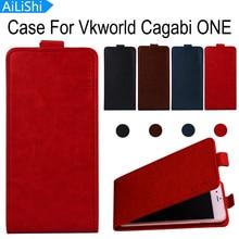 Ailishi 재고 있음 vkworld cagabi one case 최고 품질 플립 pu 가죽 케이스 독점적 인 100% 특수 전화 커버 스킨 + 추적
