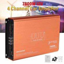 12V 7800W 4 Kanäle Auto Verstärker Subwoofer Audio Stereo Bass Lautsprecher Auto Audio Sound System