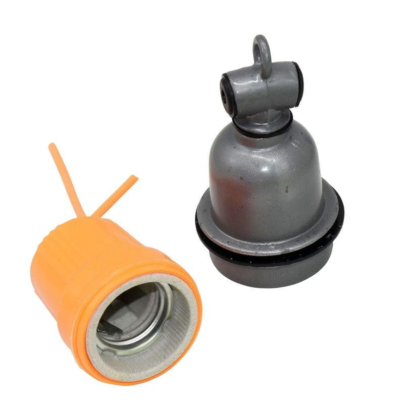 Лампа нагревательная E27 для домашних животных с держателем лампы керамическая изоляционная лампа для домашних животных лампа для сушки шер...