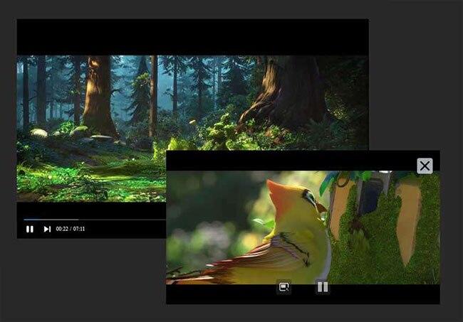 HTML5视频播放器窗口浮动代码