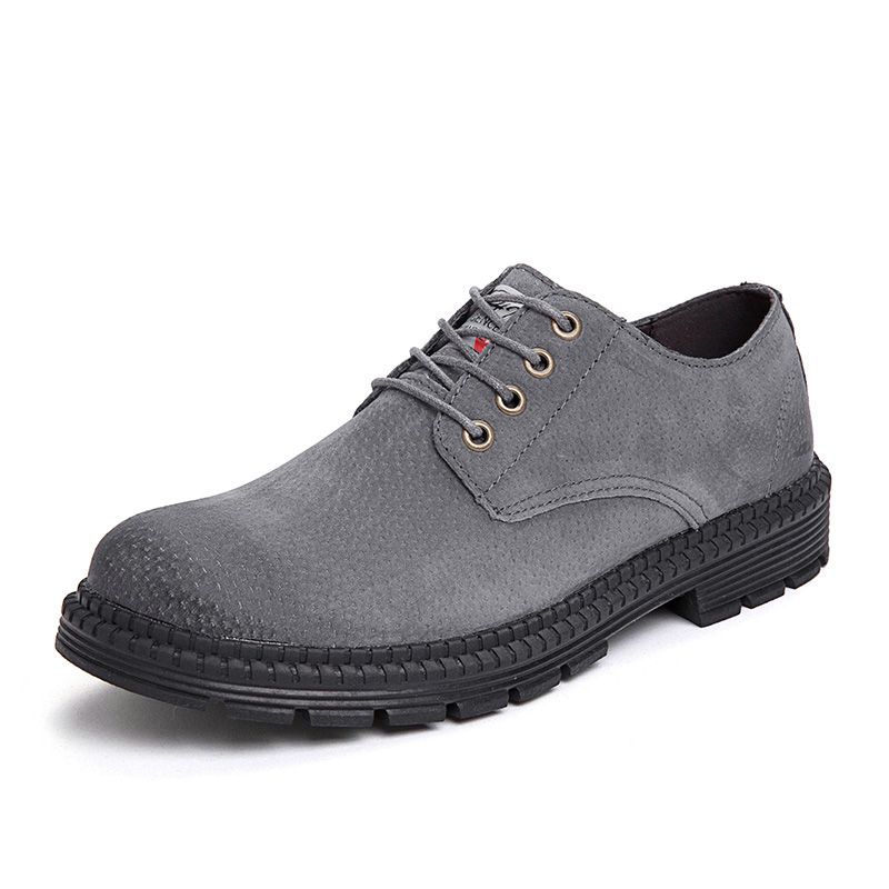Зимние ботинки повседневная обувь из флока Мужская модная весенняя Мужская обувь удобная летняя мужская обувь на плоской подошве, большие размеры 38-47% 7118 - Цвет: Серый