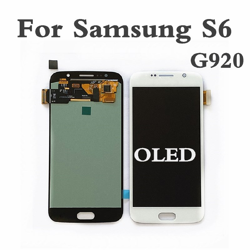 OLED For <font><b>Samsung</b></font> <font><b>S6</b></font> G920 LCD Display Screen For <font><b>Samsung</b></font> <font><b>S6</b></font> Touch Digitizer For <font><b>Samsung</b></font> <font><b>S6</b></font> <font><b>G920F</b></font> G920 Display Screen image
