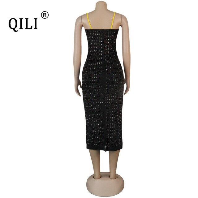 Купить qili womens diamonds dress black blue sexy apaghetti strap pencil картинки цена