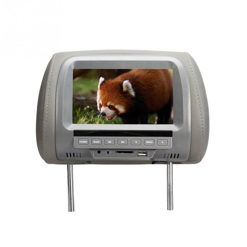 Universal 7 zoll HD Auto Kopfstütze Monitor MP5 Player/Multi media Player/Sitz zurück MP4/USB/ SD/AV/<font><b>TV</b></font>/Eingebaute Lautsprecher Led-bildschirm image