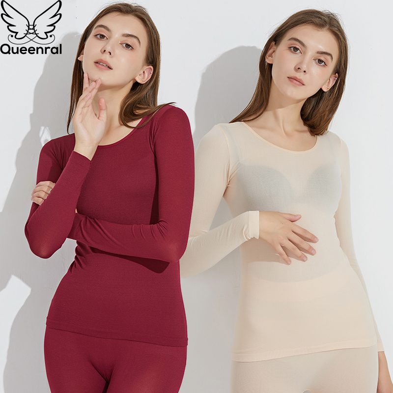 Queenral Long Johns Thermal Underwear For Women/Men Thermo Suit Ultra-thin Winter Clothes Thermo Underwear Sets Female/Male Warm