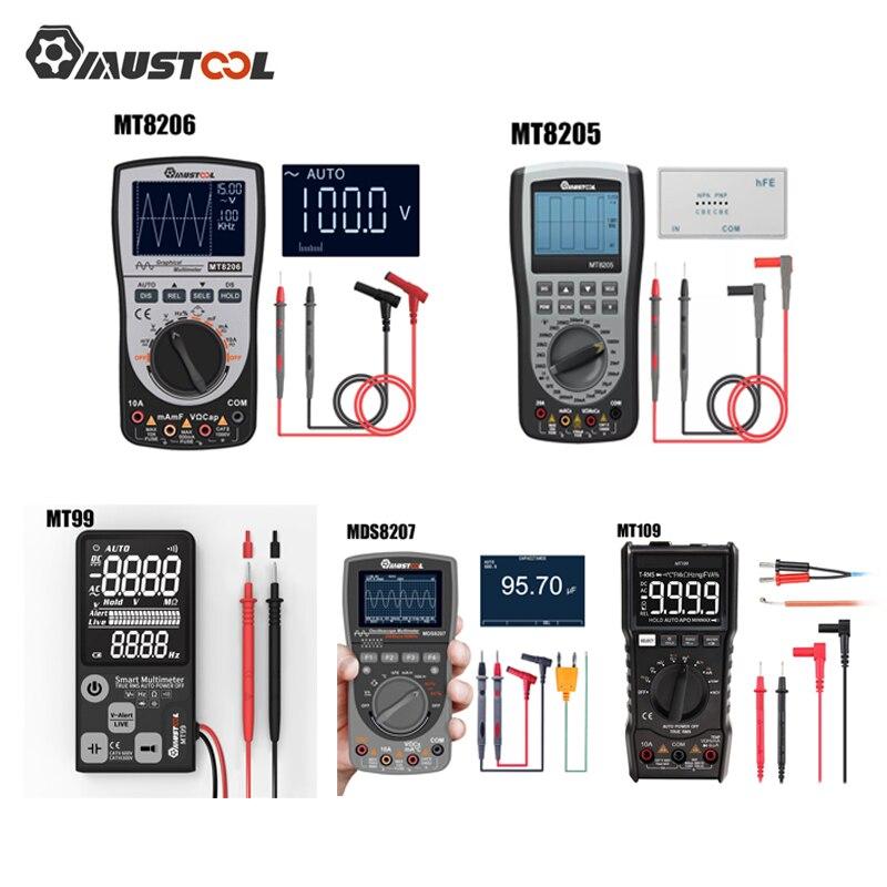 MUSTOOL MT8206 MDS8207 MT8205 MT99 MT109 2 In 1 Digital Intelligent Handheld Storage Oscilloscope Multimeter Current Voltage New