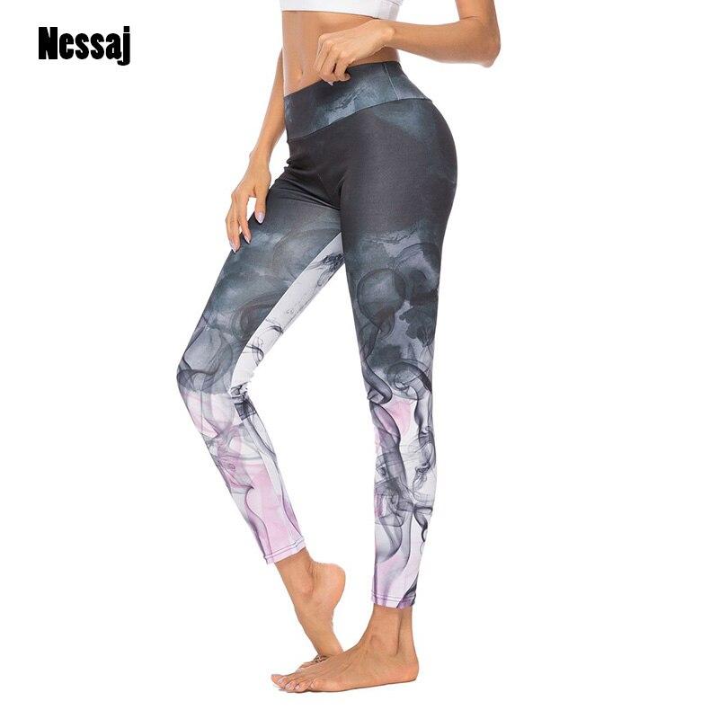Nessaj High Waist Printed Pants Long Trousers Fashion Camouflage Women Leggings Push Up Jeggings Workout Girl Leggings