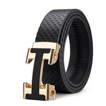 Luxury brand Paul men's belt leather fashion h automatic buc