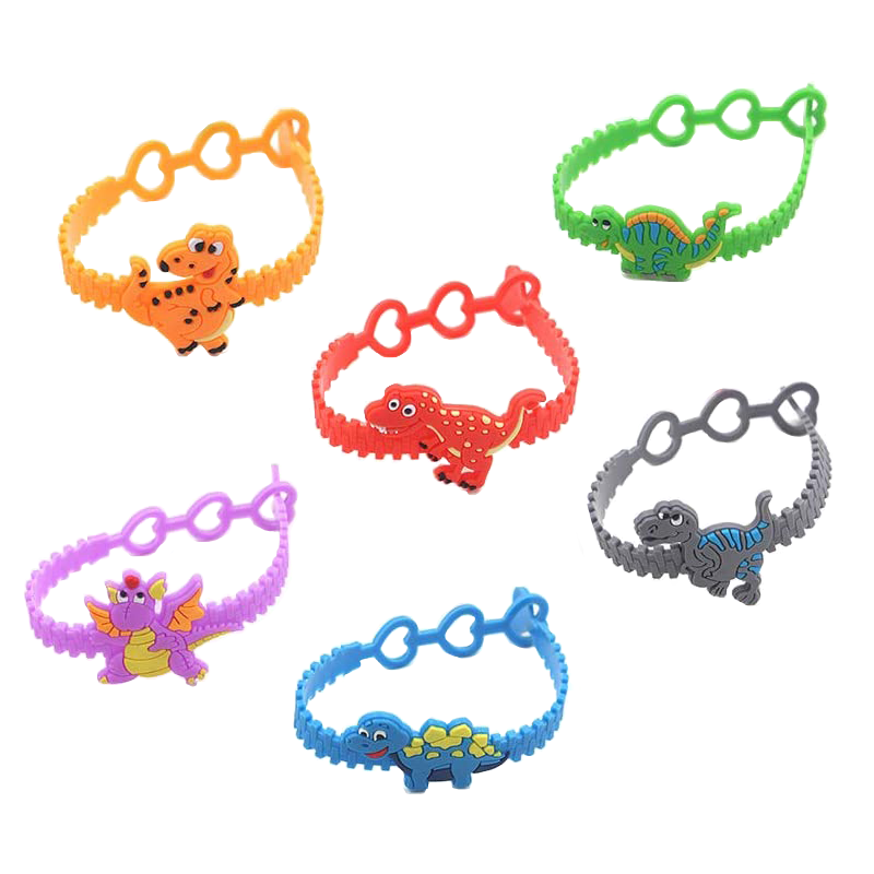 12pc/lot Dinosaur Party Theme Gift Kids Gifts Finger Wristband Party Costume Birthday Party Favors Gifts Party Supplies