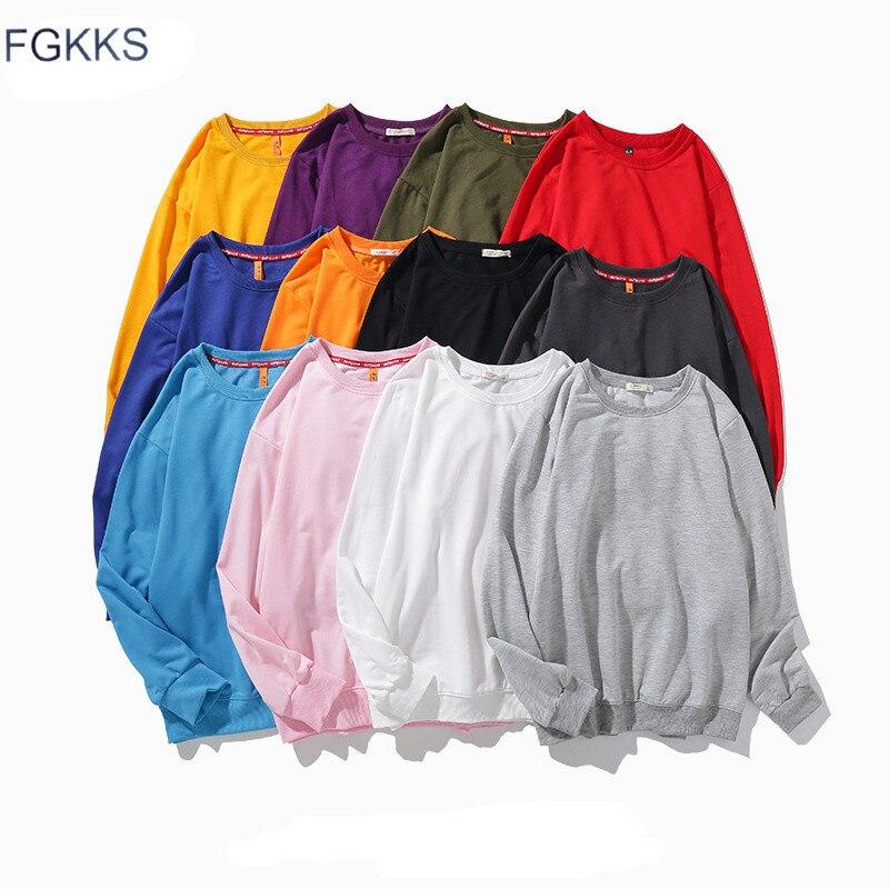 FGKKS Brand Men Harajuku Hoodies Sweatshirts Men Women Hip Hop Streetwear Hoodie Male Winter Solid Color Basic Sweatshirt