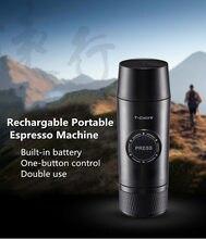 Портативная кофемашина Nespresso, перезаряжаемая кофемашина для эспрессо, уличный экстракционный порошок со встроенным аккумулятором и капсул...