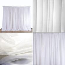 Painéis de pano de seda pura branca para pendurar cortinas, eventos de festa de casamento, decoração faça você mesmo