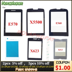 Image 1 - Novaphopat Black Front Glass Screen For Philips Xenium X5500 / X623 / E570 / E560 Outer Glass lens Panel +tracking