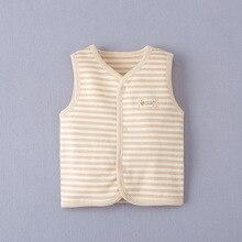 Vest Clothing Baby Kids Girl Waistcoat Cotton Unisex Outwear Organic Warm Toddler 0-24M