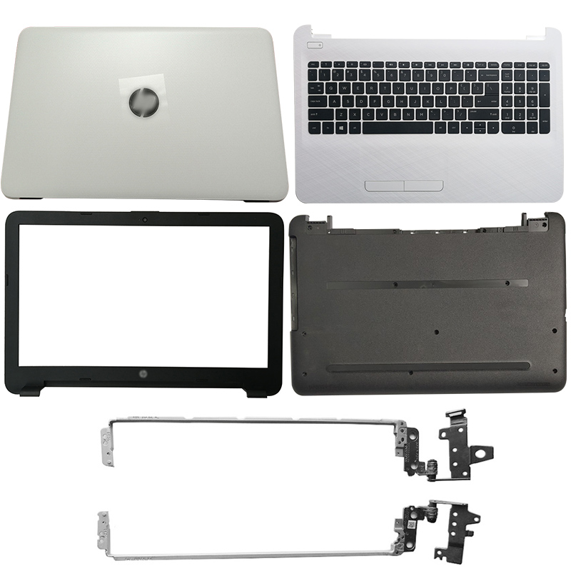 NEW For HP 250 255 256 G4 15-AC 15-AF Laptop LCD Back Cover/Front Bezel/LCD Hinges/Palmrest/Bottom Case 813926-001 816731-001