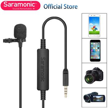 20ft Saramonic LavMicro-S Stereo Lavalier Microphone  for iPhone 8 8x iPad Sony DV Camcorder Canon Nikon DSLR Camera Recorders