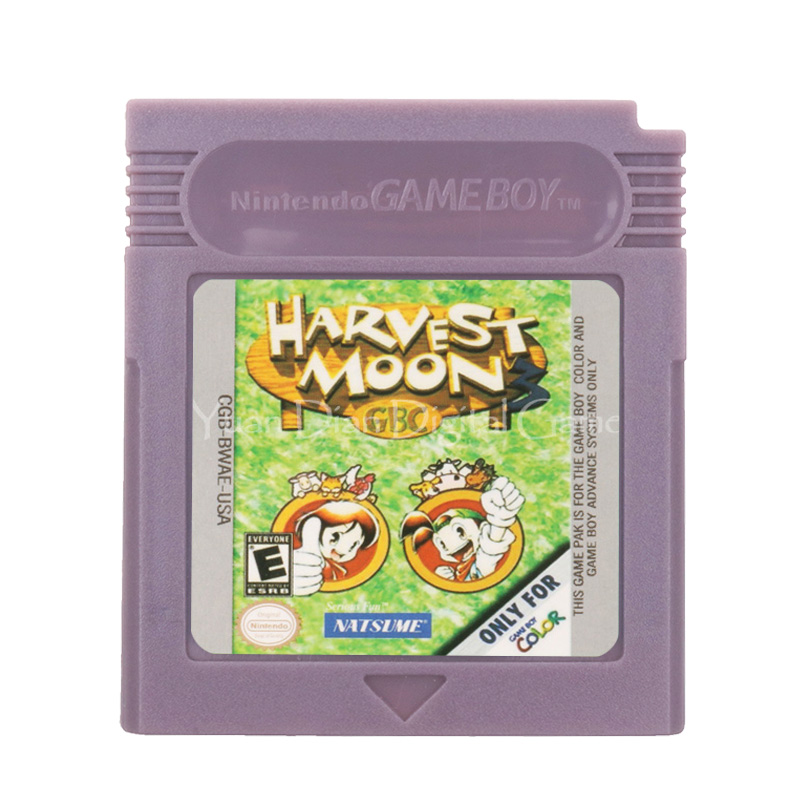 For Nintendo GBC Video Game Cartridge Console Card Harvest Moon 3 English Language Version image