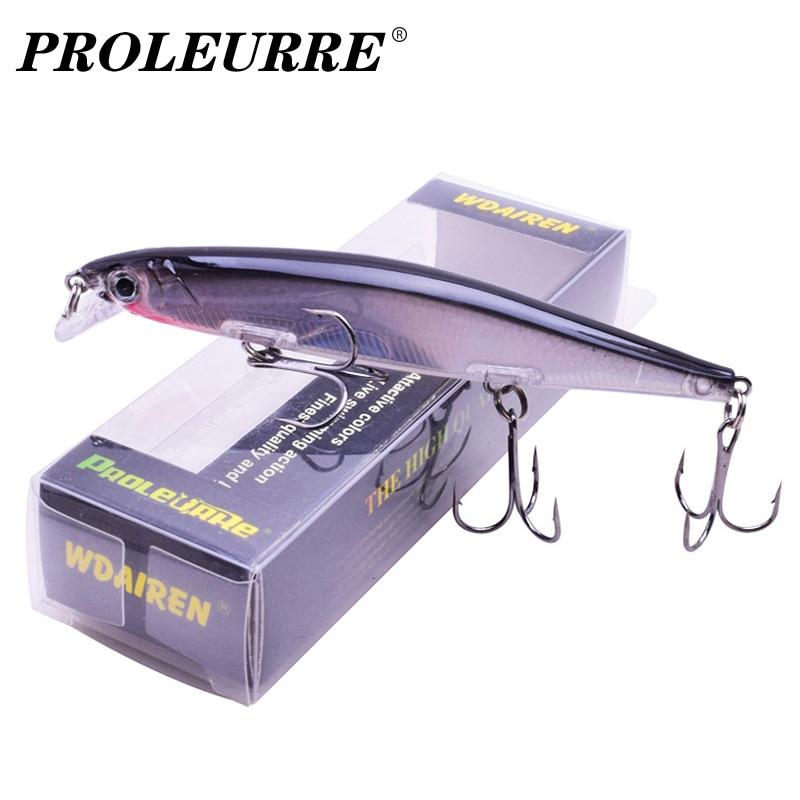 Бренд Proleurre Лазерная пластиковая рыболовная приманка для гольяна 110 мм 13,8 г Медленно тонущие воблеры 3D глаза Искусственная жесткая приманка Судак Карп Swimbait Рыболовные снасти Pesca 1