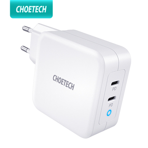 Image 1 - CHOETECH 100W GaN Fast Type C Charger For MacBook Pro PD 3.0 2 Port USB C Charger for Samsung Dell XPS Pixel 4 QC3.0 Adapter