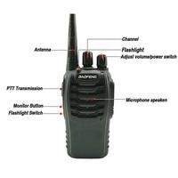 2pcs baofeng bf 888s 2pcs Baofeng BF888S מכשיר הקשר 5W UHF SMA-F רדיו משדר BF888S BF 888S 888S Comunicador משדר Ham Radio Station (2)